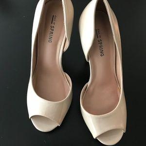 Call It Spring Patent Vegan Leather Peep Toe Heel